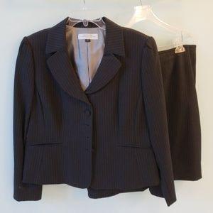 Tahari black pinstripe suit size 16P